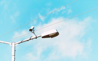 Camerabeveiliging toegepast om 1,5 meter afstand te meten