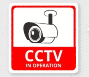 camera beveiliging stickers