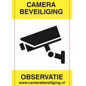 sticker camera beveiliging observatie