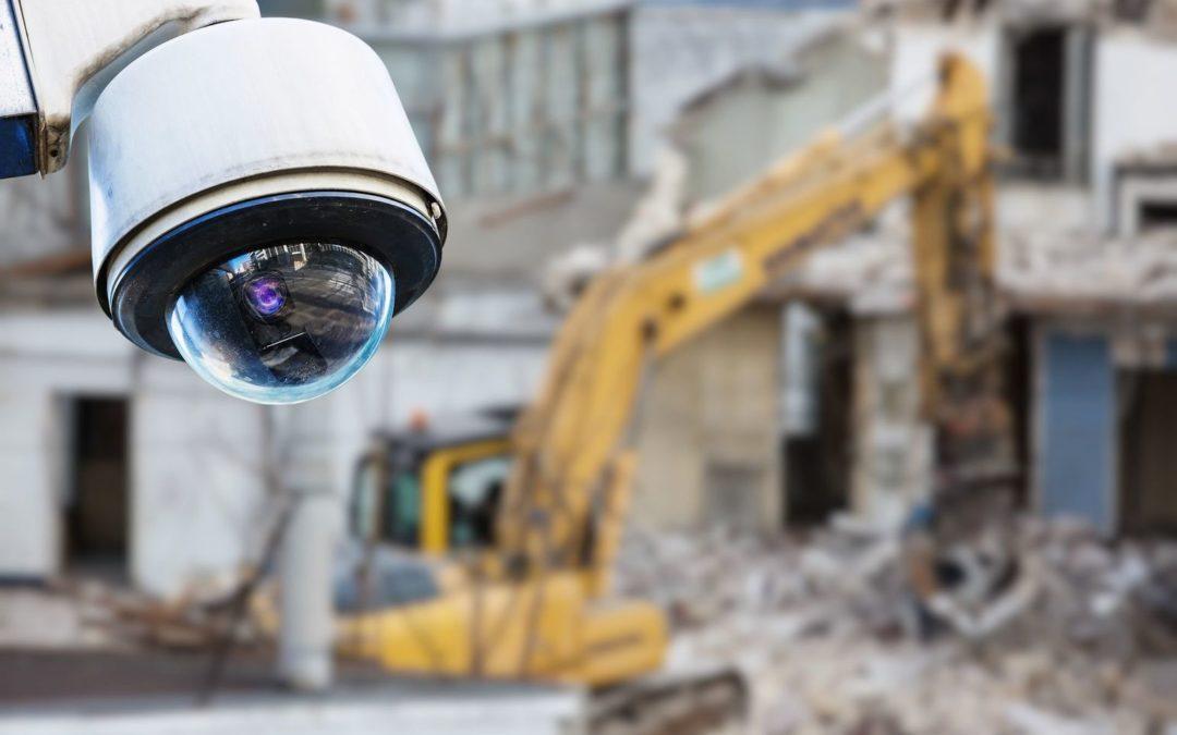Camera beveiliging op de bouwplaats